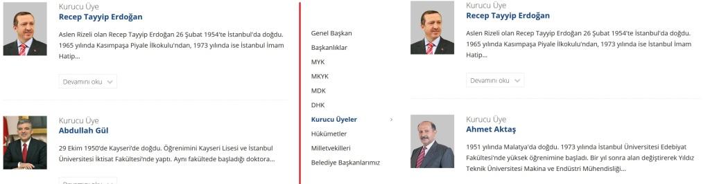 Abdullah Gul ve Yasar Yakis 'kurucu uye' listesinden cikarildi